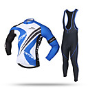 cheap Cycling Shoes-XINTOWN Men's Long Sleeve Cycling Jersey with Bib Tights - Black Bike Pants / Trousers / Jersey / Bib Tights, Windproof, 3D Pad, Thermal / Warm Polyester, Spandex, Coolmax® / Velvet / Stretchy