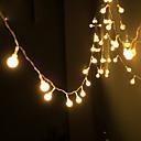 preiswerte LED Lichterketten-Solarstrom-String-Licht wasserdichte LED-Streifen 10m 100LED Kupferdraht Lampe warmweiß für Outdoor Weihnachtsdekoration Lichter