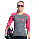 halpa Pyöräilyvalot-SANTIC Naisten Pyöräily jersey Pyörä T-paita / Jersey / Topit Ultraviolettisäteilyn kestävä, Hengittävä, Pehmeä Retro, Patchwork, Classic