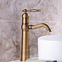 billige Smartklokke Tilbehør-Baderom Sink Tappekran - Forskyll / Foss / Utbredt Antikk Kobber Centersat Enkelt håndtak To Huller