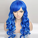 cheap Synthetic Capless Wigs-Women Synthetic Wig Capless Long Very Long Natural Wave Blue Natural Wig Costume Wigs