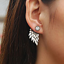 cheap Anklet-Stud Earrings - Rhinestone Wings, Angel Wings Vintage Gold / Black / Silver For Wedding Party Daily