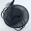 cheap Party Headpieces-Gemstone & Crystal / Tulle / Lace Fascinators / Hats / Headpiece with Crystal / Feather 1 Wedding / Special Occasion / Party / Evening Headpiece