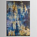 tanie Obrazy: abstrakcja-Hang-Malowane obraz olejny Ręcznie malowane - Abstrakcja Klasyczny / Nowoczesny Brezentowy / Rozciągnięte płótno
