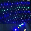 olcso LED világítás-led hálók fények karácsonyi fények vízálló színezett 96 lámpa foglalat