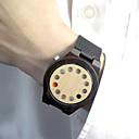 お買い得  スポーツウォッチ-男性用 腕時計 ウッド ユニークなクリエイティブウォッチ ファッションウォッチ スポーツウォッチ クォーツ 日本産クォーツ / ホット販売 レザー バンド ぜいたく ヴィンテージ カジュアル ブラック ブラウン カーキ