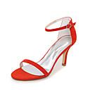 olcso Női magassarkú cipők-Női Cipő Pihe Tavasz / Nyár Lábujj gyűrűs Szandálok Nulla Tűsarok Lábujj nélküli Nulla Csat Világoskék / Mandula / Világoszöld
