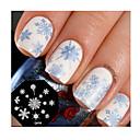 abordables Estampados para Uñas-sello de uñas de arte plantilla de la placa de estampado de uñas lindo del copo de nieve diseño de herramientas