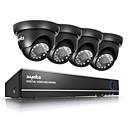 olcso DVR készlet-sannce® 720p kültéri ir otthoni biztonsági kamera 1080n 4 csatornás HD DVR CCTV rendszer beépített 1TB HDD