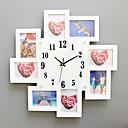 رخيصةأون ساعات جدران عصرية-الحديثة / المعاصرة خشب زجاج مربع داخلي,AA ساعة الحائط