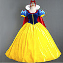 cheap Movie & TV Theme Costumes-Princess / Fairytale / Snow Cosplay Costume / Party Costume Women's Halloween / Carnival Festival / Holiday Halloween Costumes Blue+Yellow Patchwork / Bowknot / Chiffon / Satin