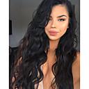 billige Antrekk til latindans-Ekte hår Blonde Forside Parykk Krop Bølge Parykk 130% Naturlig hårlinje / Afroamerikansk parykk / 100 % håndknyttet Dame Kort / Medium / Lang Blondeparykker med menneskehår