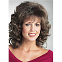 cheap Kitchen Faucets-Synthetic Wig Curly Synthetic Hair Brown Wig Medium Length Capless Brown