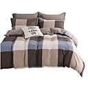 preiswerte Geometrische Duvet Covers-Bettbezug-Sets Blumen 4 Stück Polyester / Baumwolle Reaktivdruck Polyester / Baumwolle 4-teilig (1 Bettbezug, 1 Bettlaken, 2