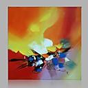 abordables Toiles-Peinture à l'huile Hang-peint Peint à la main - Abstrait Moderne Inclure cadre intérieur / Toile tendue