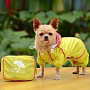 halpa Koiran vaatteet-Koira Sadetakki Koiran vaatteet Yhtenäinen Keltainen Punainen Sininen Akryylikuidut Asu Lemmikit Miesten Naisten Vedenkestävä