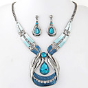 cheap Jewelry Sets-Women's Jewelry Set - Resin Drop European, Fashion, Elegant Include Drop Earrings Pendant Necklace Blue For Party Special Occasion Anniversary