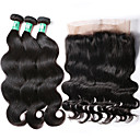 cheap One Pack Hair-360 lace frontal closure with bundles body wave brazilian virgin human hair weaves 3 bundles with one 360 frontal