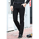 cheap Wedding Shoes-Men's Cotton Slim Straight Pants - Solid Colored Black / Work / Asian Size