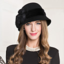 cheap Party Headpieces-Wool Flax Lace Net Fascinators Hats 1 Wedding Special Occasion Casual Headpiece
