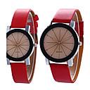 preiswerte Modische Uhren-Paar Armbanduhr Schlussverkauf / Cool / / PU Band Retro / Freizeit / Modisch Schwarz / Weiß / Blau / Ein Jahr / SSUO 377