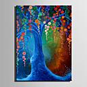 halpa Kukkamaalaukset-Hang-Painted öljymaalaus Maalattu - Kukkakuvio / Kasvitiede European Style Moderni Kangas