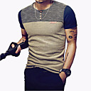 cheap Fishing Tools-Men's Sports Slim T-shirt - Color Block Patchwork Round Neck / Short Sleeve