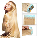 cheap Tape in Hair Extensions-Febay Tape In Human Hair Extensions Straight Virgin Human Hair Brazilian Hair