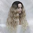olcso Szintetikus csipke parókák-Szintetikus parókák Női Hullámos Szőke Szintetikus haj Ombre haj / Sötét hajtő / Természetes hajszálvonal Szőke Paróka Hosszú Csipke eleje Szőke Hivision