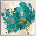olcso Virág festmények-Hang festett olajfestmény Kézzel festett - Absztrakt Modern Vászon