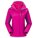 cheap Softshell, Fleece & Hiking Jackets-Women's Ski Jacket Hiking Jacket Outdoor Spring Fall Waterproof Thermal / Warm Windproof Breathable Softshell Jacket Top Full Length Visible Zipper Skiing Camping / Hiking Leisure Sports Red / Winter