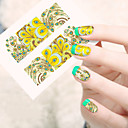 cheap Water Transfer Nail Stickers-1 pcs Flower / Cartoon / Fashion Water Transfer Sticker / 3D Nail Stickers Lovely Daily