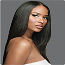 cheap Human Hair Wigs-Remy Human Hair Glueless Full Lace Full Lace Wig Brazilian Hair Straight Yaki Wig 130% 150% 180% Density with Baby Hair Natural Hairline African American Wig 100% Hand Tied Women's Short Medium