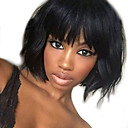 cheap Synthetic Capless Wigs-short bob 8 14 inch 130 density 13 6 lace front wig virgin brazilian natural wave human hair wig with bangs
