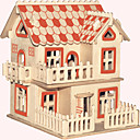 cheap 3D Puzzles-Wooden Puzzle Famous buildings Chinese Architecture House Professional Level Wooden 1pcs European Style Kid's Boys' Gift