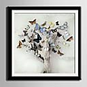 billige Innrammet kunst-Innrammet Lerret Innrammet Sett Dyr Blomstret/Botanisk Veggkunst, PVC Materiale med ramme Hjem Dekor Rammekunst Stue Soverom Kjøkken