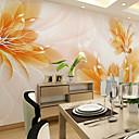 abordables Adhesivos de Pared-Floral Art Decó 3D Decoración hogareña Moderno Revestimiento de pared, Lona Material adhesiva requerida Mural, Revestimiento de paredes