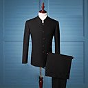 cheap Hair Jewelry-Men's Chinoiserie Slim Suits - Solid Colored, Basic Stand