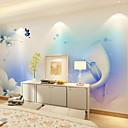 billige Vegglamper-Blomstret Art Deco 3D Hjem Dekor Moderne Tapetsering, Lerret Materiale selvklebende nødvendig Veggmaleri, Tapet