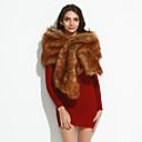 cheap Wedding Wraps-Women's Vintage Party Faux Fur Rectangle - Solid Colored