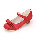 abordables Puzles 3D-Chica Zapatos Seda Primavera verano Zapatos para niña florista Tacones Pajarita para Rosa / Champaña / Marfil / Boda / Fiesta y Noche