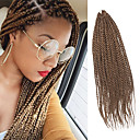 billige Hårfletter-Senegal Twist Braids Hårforlengelse 20Inch Kanekalon 35 Strands (Recommended By 3 Packs for a Full Head) Strand 98g gram Hair Braids