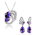 cheap Clutches & Evening Bags-Women's Synthetic Amethyst Crystal Jewelry Set - Austria Crystal Butterfly, Animal Include Purple For Wedding Party Daily