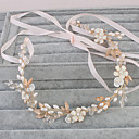 cheap Party Headpieces-Pearl Headbands / Headwear with Floral 1pc Wedding / Special Occasion / Casual Headpiece