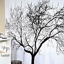 billige Veggklistremerker-Dusjgardiner Neoklassisk polyester Blomster / botanikk Maskinprodusert