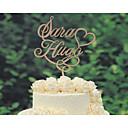 baratos Decoração para Cerimônias-Decorações de Bolo Tema Clássico Tema vintage Tema rústico Casal Clássico Casamento Com Bolsa Poly