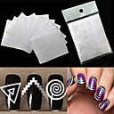 cheap Nail Salon-12pcs nails sticker stencil tips guide french swirls manicure nail art decals form fringe diy sencil 3d styling beauty tools