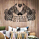 cheap Wall Stickers-Decorative Wall Stickers - Words & Quotes Wall Stickers Animals / Fashion / Words & Quotes Living Room / Bedroom / Dining Room