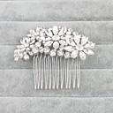 baratos Acessórios de Cabelo-Cristal Pentes de cabelo com 1 Casamento / Ocasião Especial Capacete
