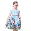tanie Sukienki dla dziewczynek-Brzdąc Dla dziewczynek Kwiatowy Nadruk Bez rękawów Sukienka